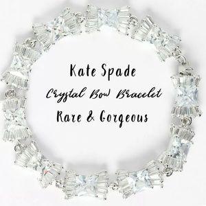 Kate Spade ♠️ Crystal Bow Bracelet Rare Marriage